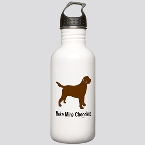 Make Mine Chocolate Lab Stainless Water Bottle 1.0