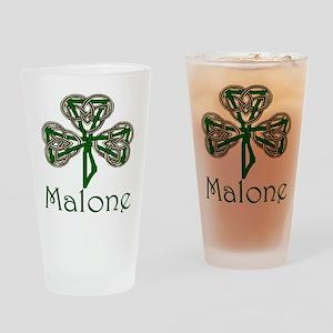 Malone Shamrock Pint Glass