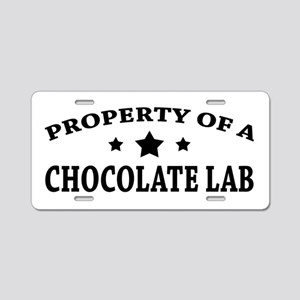 Property of Chocolate Lab Aluminum License Plate