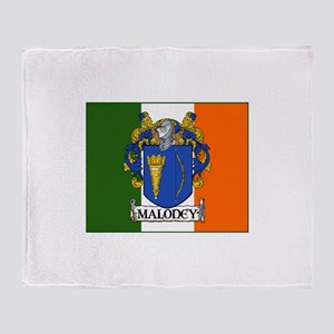 Maloney Arms Irish Flag Throw Blanket