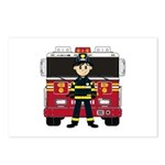 Fireman and Fire Engine Postcards (Pk of 8)