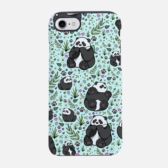 Pandas iPhone 7 Tough Case