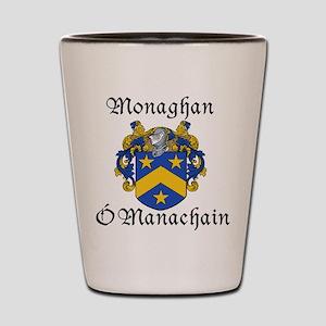 Monaghan In Irish & English Shot Glass