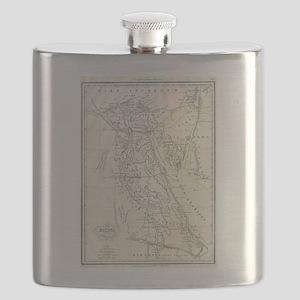 Vintage Map of Egypt (1837) Flask