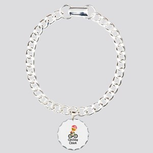 Cycling Chick Charm Bracelet, One Charm