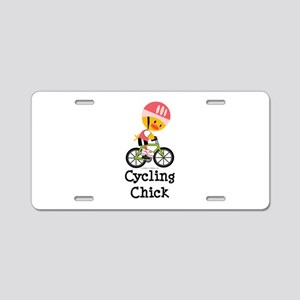 Cycling Chick Aluminum License Plate