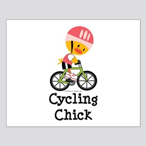 Cycling Chick Small Poster