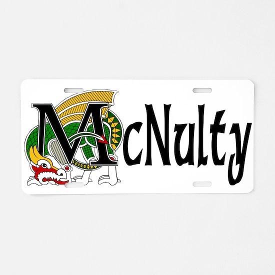 McNulty Celtic Dragon Aluminum License Plate