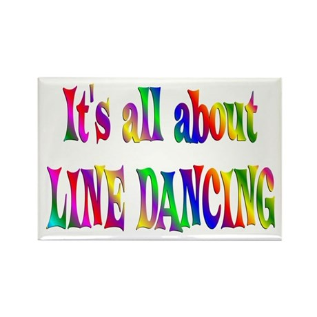 About Line Dancing Rectangle Magnet