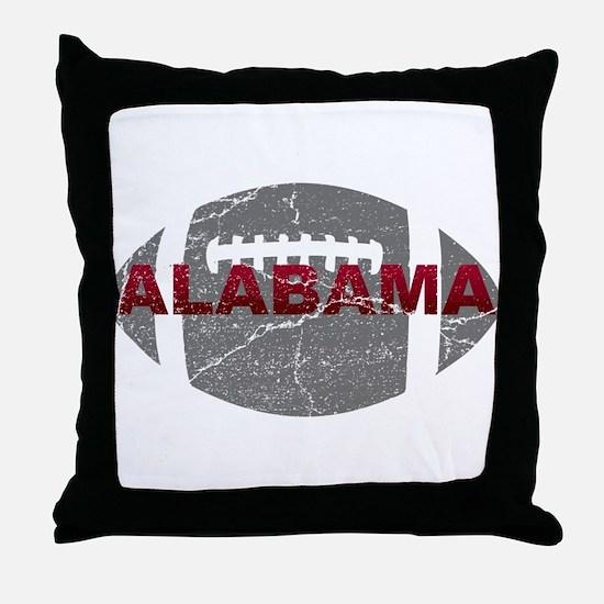 Alabama Football Throw Pillow
