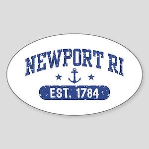 Newport Rhode Island Sticker (Oval)
