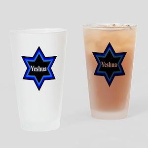 Yeshua Star of David Drinking Glass