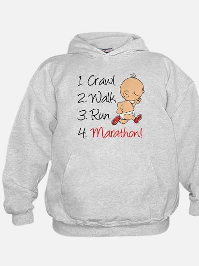 Crawl, Walk, Run Marathon Hoodie