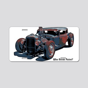 Rat Rod1 Aluminum License Plate