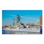 USS DAVIS Sticker (Rectangle)