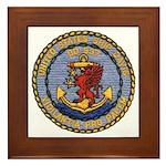 USS DAVIS Framed Tile