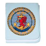 USS DAVIS baby blanket