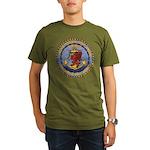 USS DAVIS Organic Men's T-Shirt (dark)