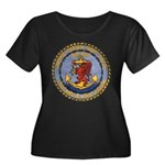 USS DAVIS Women's Plus Size Scoop Neck Dark T-Shir