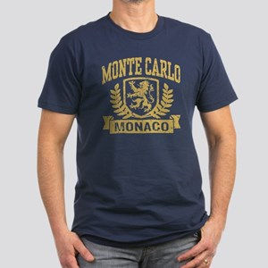 Monte Carlo Monaco Men's Fitted T-Shirt (dark)