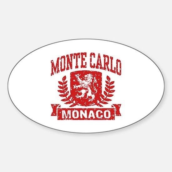 Monte Carlo Monaco Sticker (Oval)