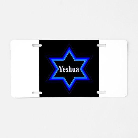 Yeshua Star of David (Blk) Aluminum License Plate