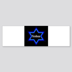 Yeshua Star of David (Blk) Bumper Sticker