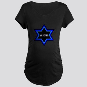 Yeshua Star of David Maternity Dark T-Shirt