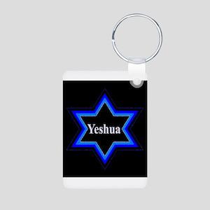 Yeshua Star of David (Blk) Aluminum Photo Keychain