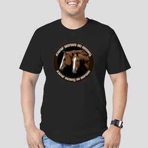 Know Horses No Money Men's Fitted T-Shirt (dark)