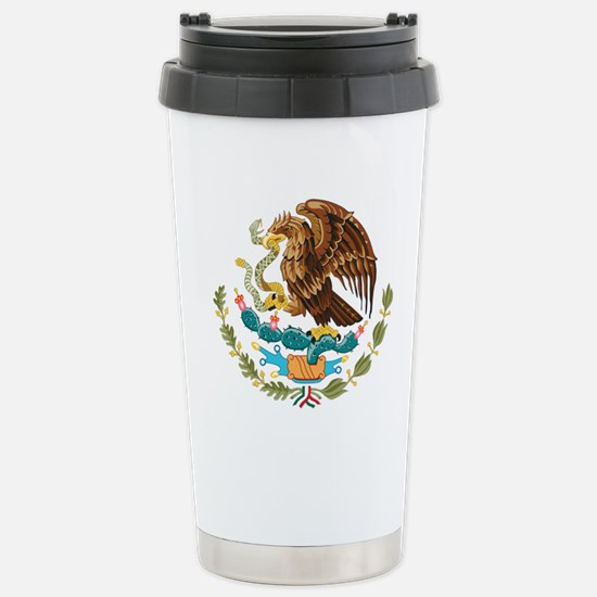 Mexico Coat of Arms Stainless Steel Travel Mug