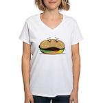Hamburger Women's V-Neck T-Shirt