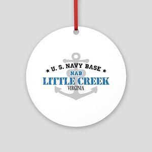 US Navy Little Creek Base Ornament (Round)