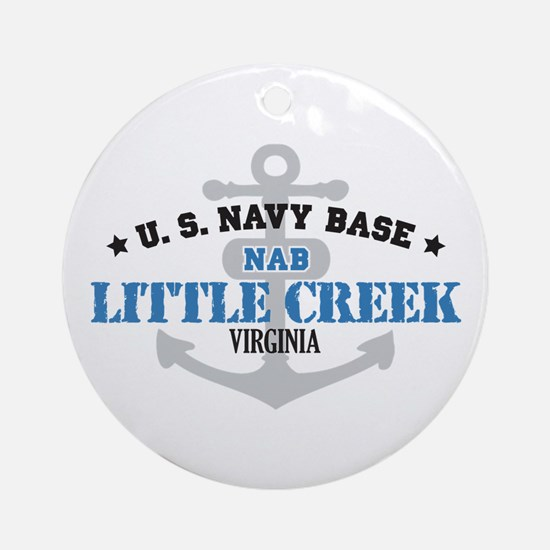US Navy Little Creek Base Ornament (Round)