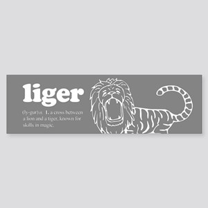 Liger (gray) ~ Bumper Sticker