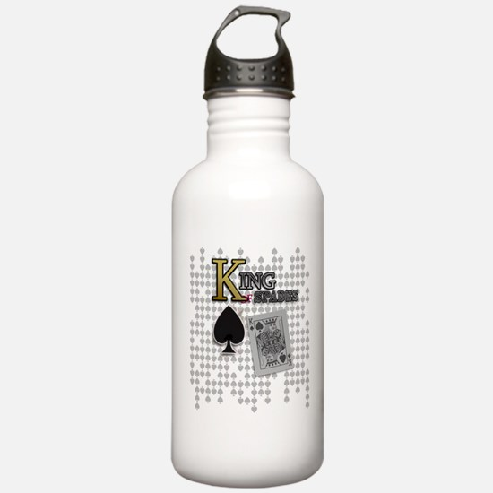 King of Spades Poker Design Water Bottle