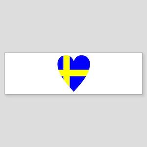 HEART FOR SWEDEN Sticker (Bumper)