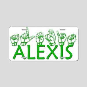 ALEXIS-green Aluminum License Plate