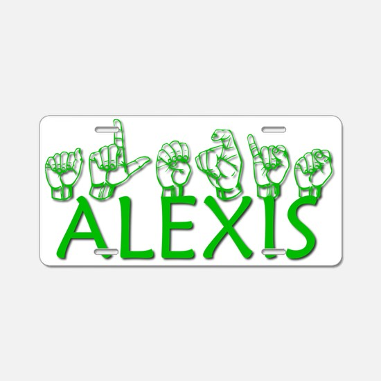ALEXIS-green Aluminum License Plate
