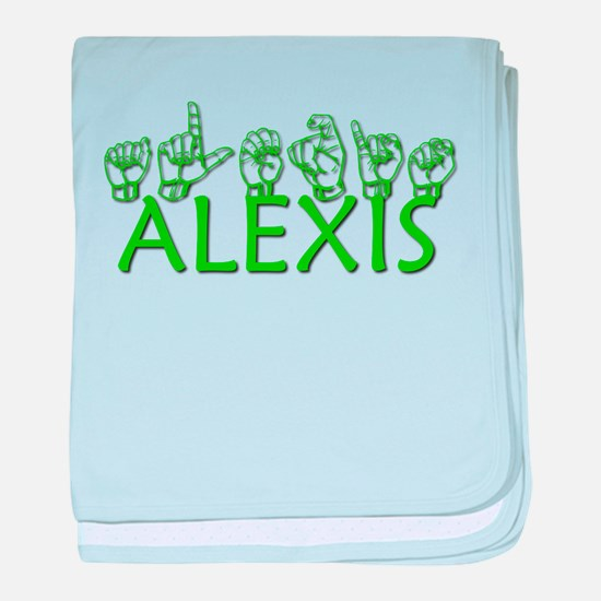 ALEXIS-green baby blanket