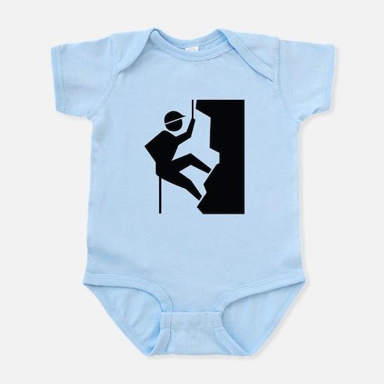 Rock Climbing Image Infant Bodysuit