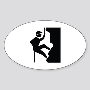 Rock Climbing Image Sticker (Oval)
