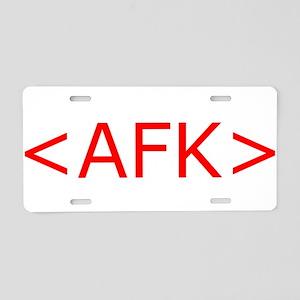 AFK Aluminum License Plate