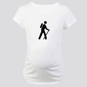 Hiking Trail Image Maternity T-Shirt