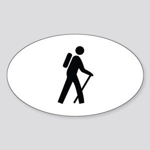 Hiking Trail Image Sticker (Oval)