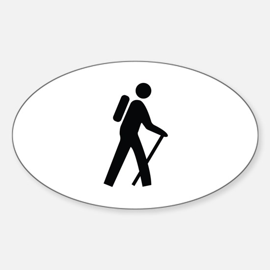 Hiking Trail Image Sticker (Oval)
