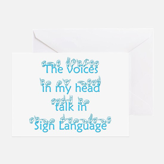 The voices in my head talk in Greeting Card
