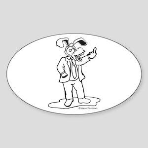 Left Wing Finger - Oval Sticker
