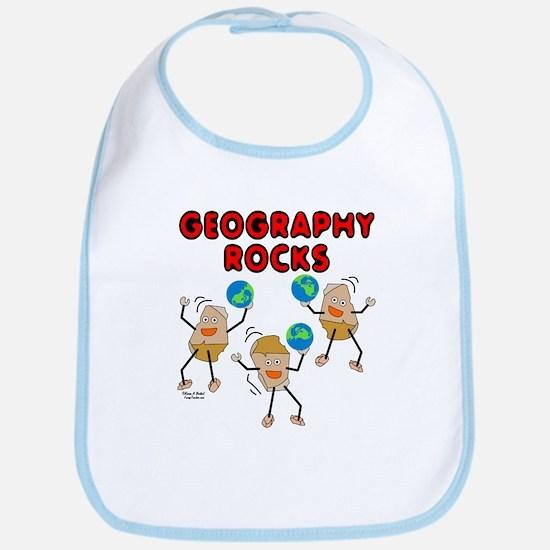 Three Geography Rocks Bib