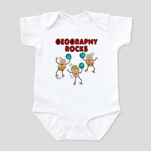 Three Geography Rocks Infant Bodysuit